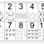 Picture Number Chart 1 10 | Printable Worksheets | Numbers Preschool   Free Printable Number Chart 1 10