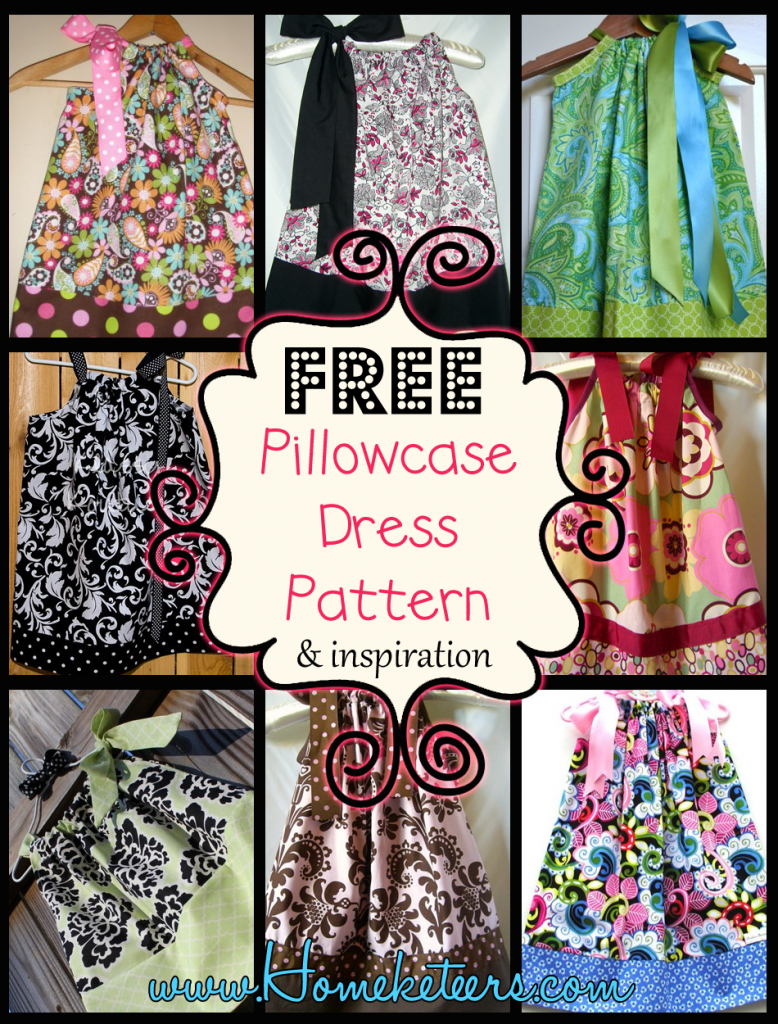 Pillowcase Dresses – Inspirations And Patterns - Free Printable Pillowcase Dress Pattern
