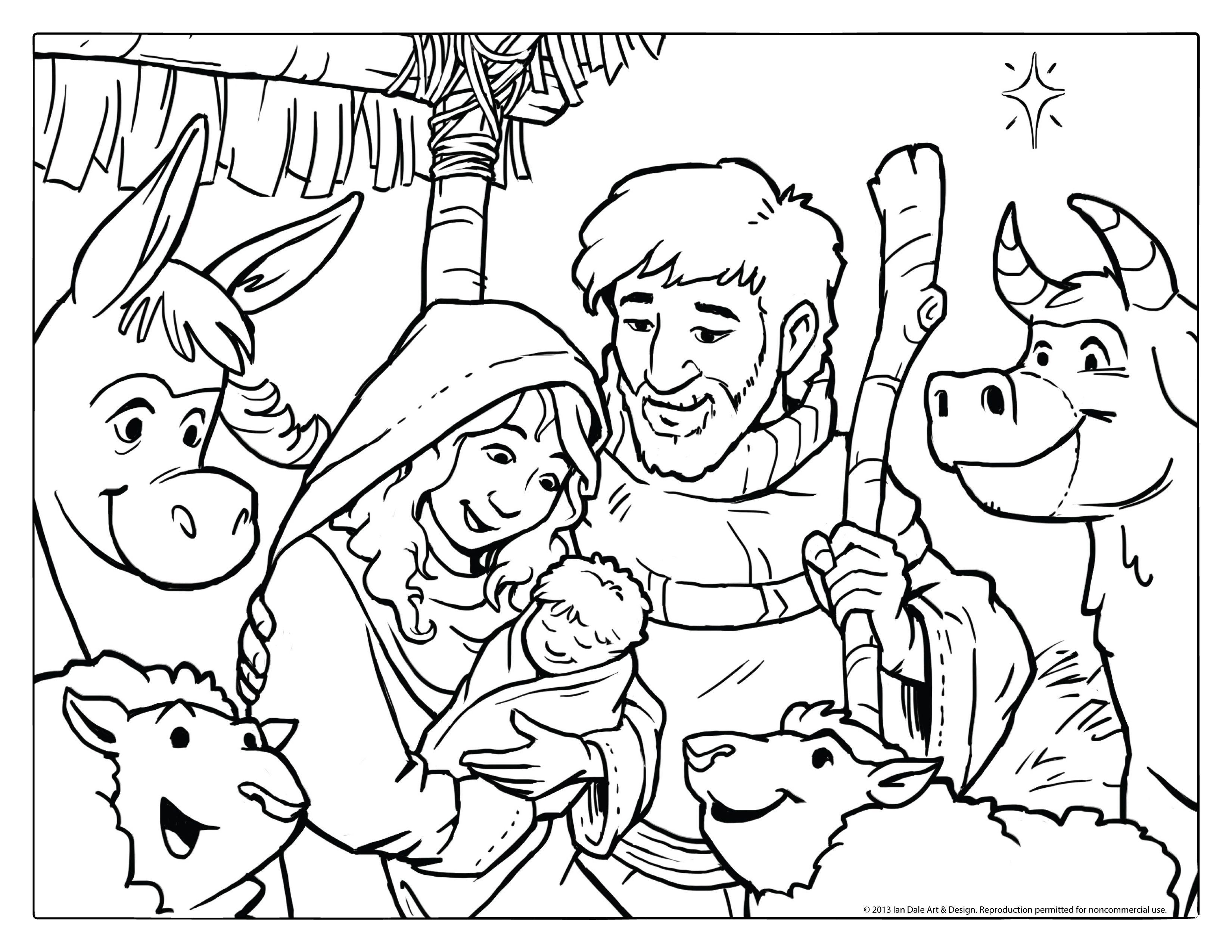 Pinalbertus Bayu Dwiananta On Coloring | Nativity Coloring Pages - Free Printable Christmas Baby Jesus Coloring Pages