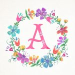 Pinamarilys Annoni Mendez On Iphone Wallpapers | Watercolor   Free Printable Flower Letters