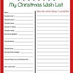 Pinbecky Stout On Christmas!!! | Christmas Wish List Template   Free Printable Christmas List