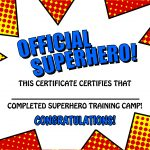 Pincrafty Annabelle On Super Heros Printables | Superhero Party   Free Printable Superhero Certificates
