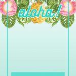 Pineapple Luau Perimeter   Free Printable Birthday Invitation   Free Printable Luau Clipart