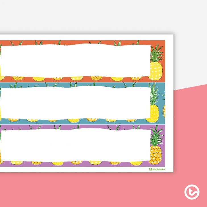 Free Printable Classroom Tray Labels