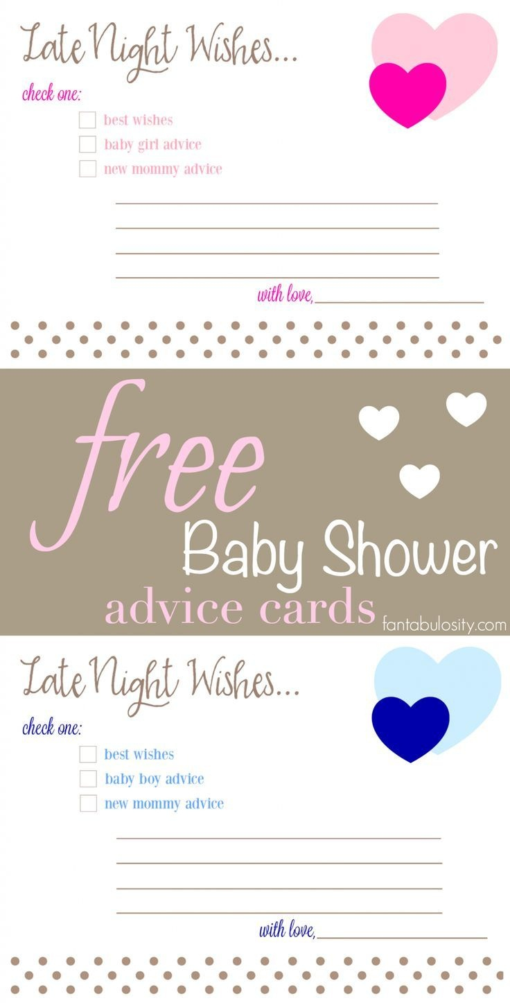 Pinfantabulosity - Life + Style Blog On Ogt Blogger Friends In - Free Printable Baby Advice Cards