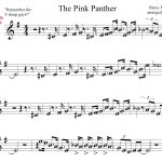Pink Panther Sheet Music For Mobile The Pink Panther Theme1275   Free Printable Alto Saxophone Sheet Music Pink Panther