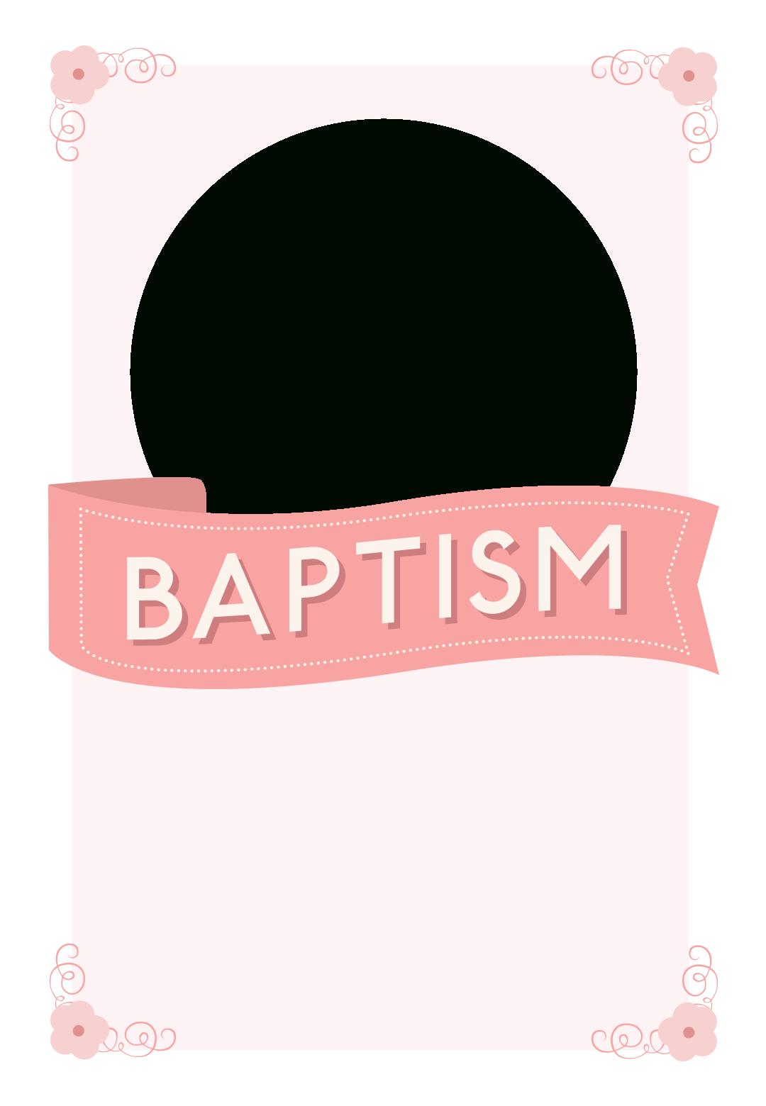 Pink Ribbon - Free Printable Baptism & Christening Invitation - Free Printable Personalized Baptism Invitations
