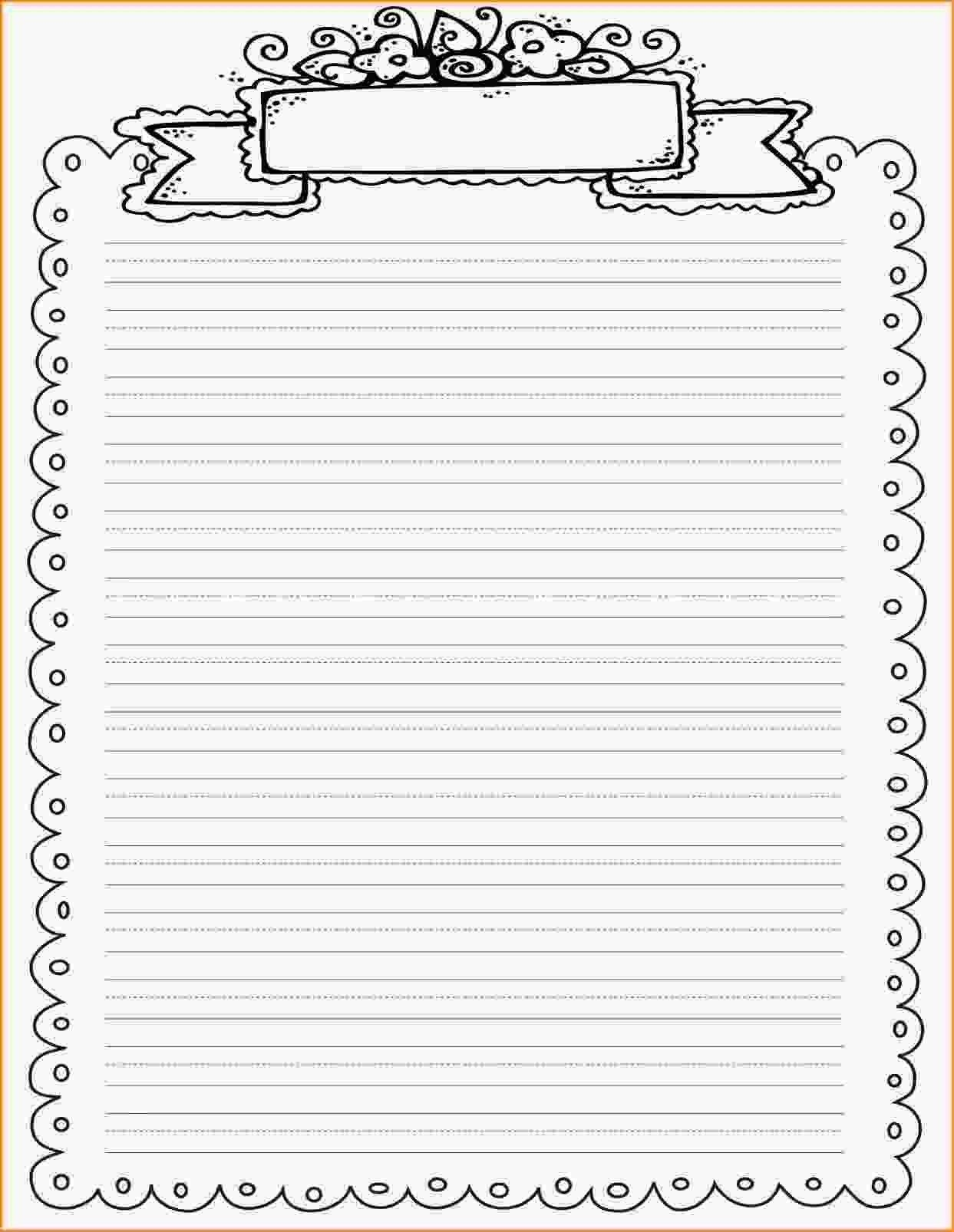 Pinmel Bratz On Art/teaching | Printable Lined Paper, Printable - Free Printable Writing Paper With Borders