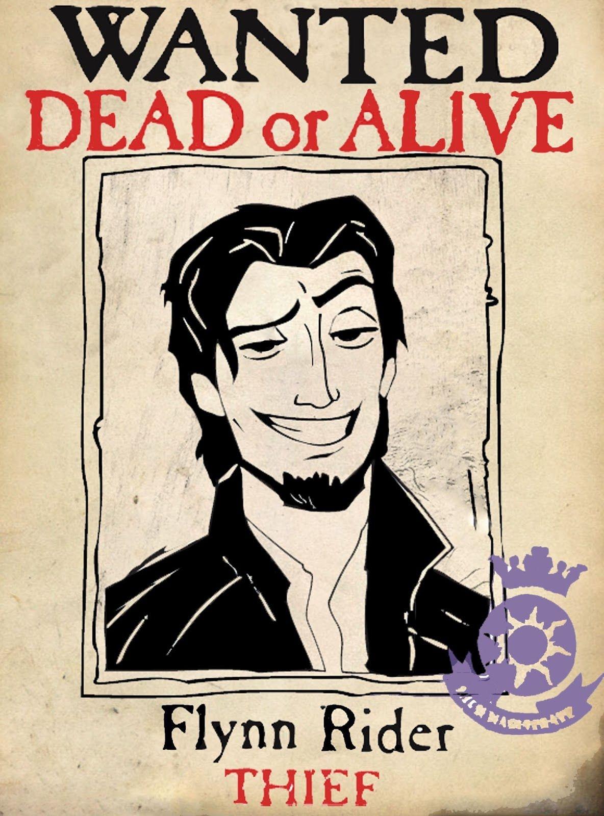 Pinsandy Schneider On Rapunzel Birthday Party   Tangled Birthday - Free Printable Flynn Rider Wanted Poster