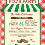 Pizza And Birthday Party Invitation Design Template Stock Vector   Free Printable Italian Dinner Invitations