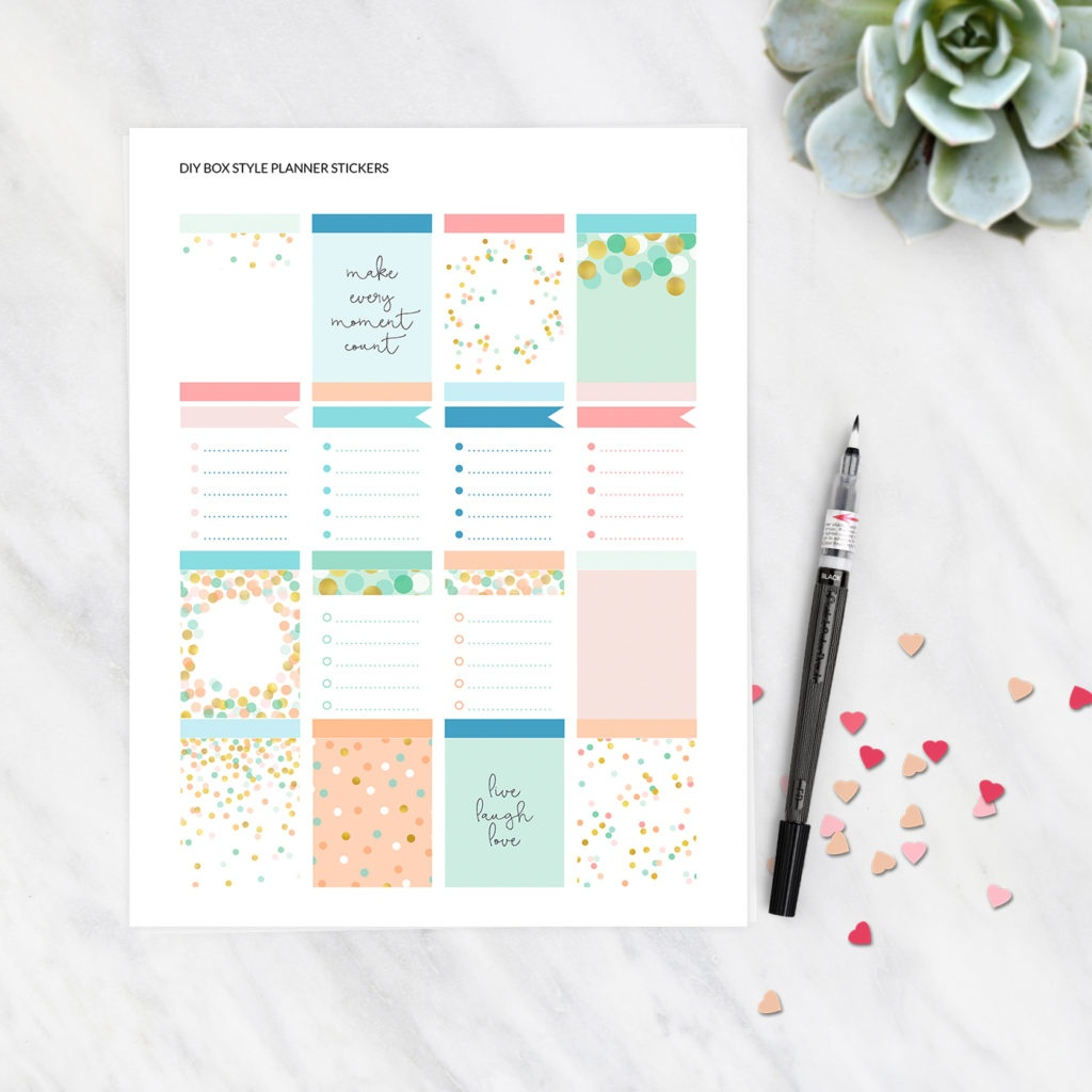 Planner Stickers - Free Printable Box Style Stickers - Erin Condren - Printable Erin Condren Stickers Free