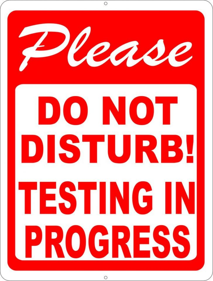 Free Printable Testing Signs