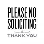 Please No Soliciting | Lemon Squeezy | Printables & Fonts | No   Free Printable No Soliciting Sign