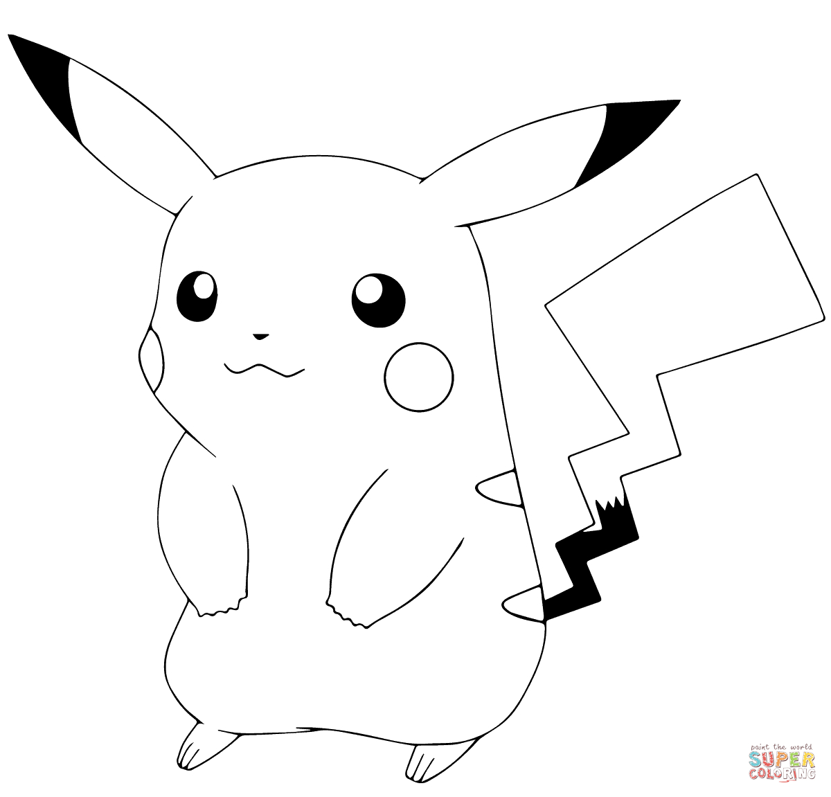 Pokémon Go Pikachu Coloring Page | Free Printable Coloring Pages - Free Printable Pokemon Coloring Pages