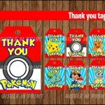 Pokemon Thank You Tags Printable Pokemon Gift Tags Pokemon | Etsy   Free Printable Pokemon Thank You Tags