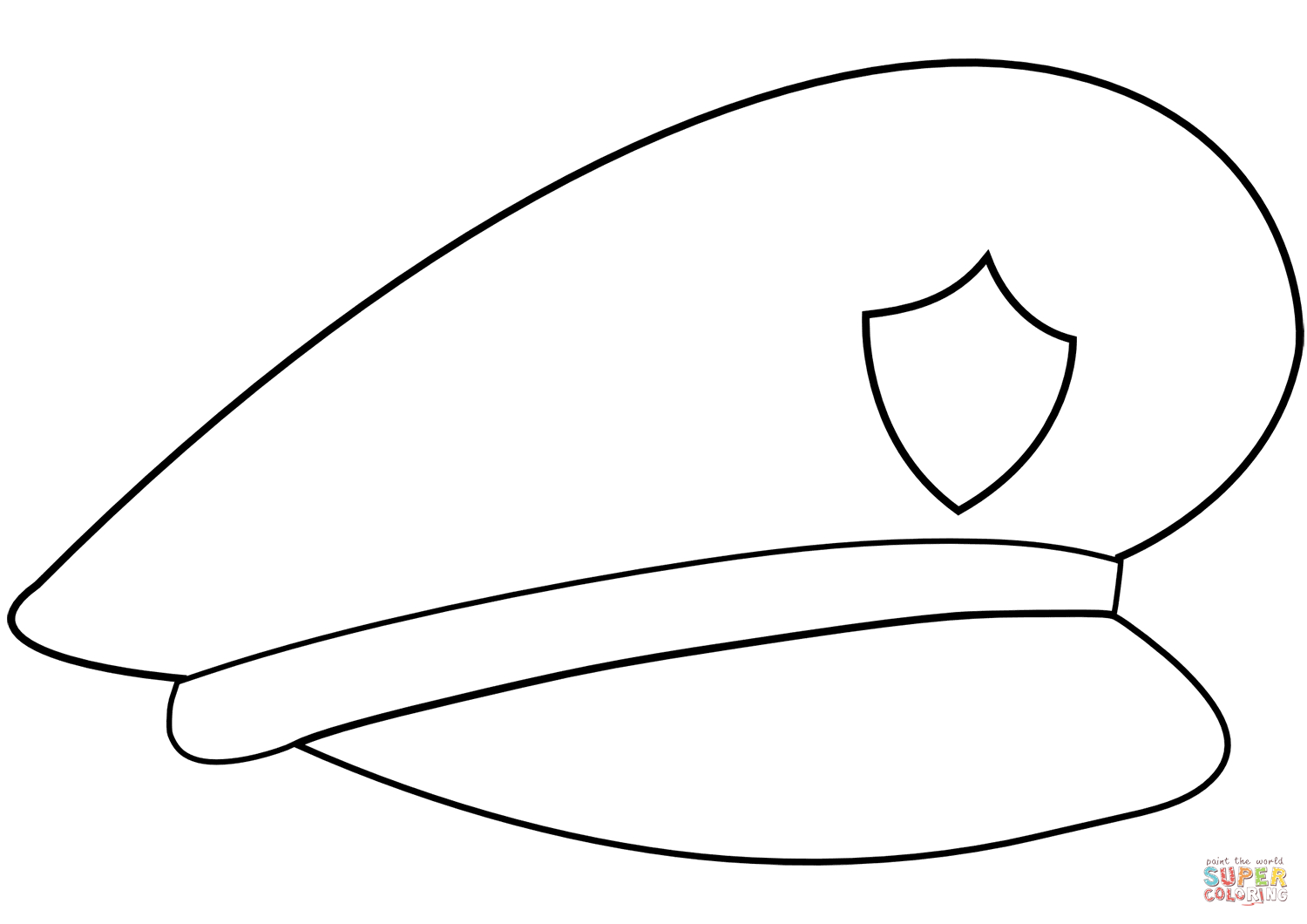 Police Hat Coloring Page | Free Printable Coloring Pages - Free Printable Police Hat