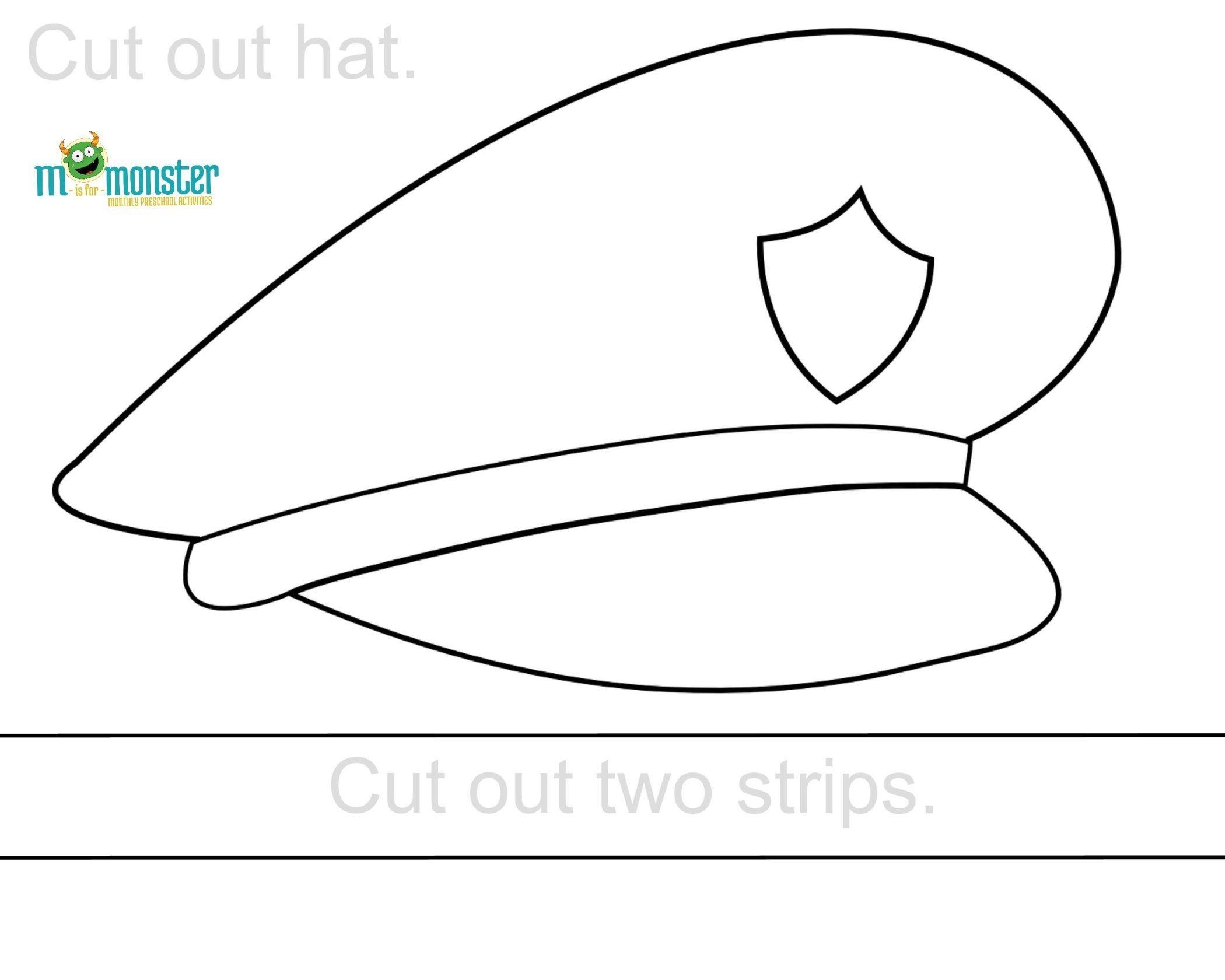 Police Hat Printable | Toddler & Preschool Printables | Police Hat - Free Printable Police Hat