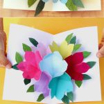 Pop Up Flowers Diy Printable Mother's Day Card   A Piece Of Rainbow   Free Printable Cards No Download Required