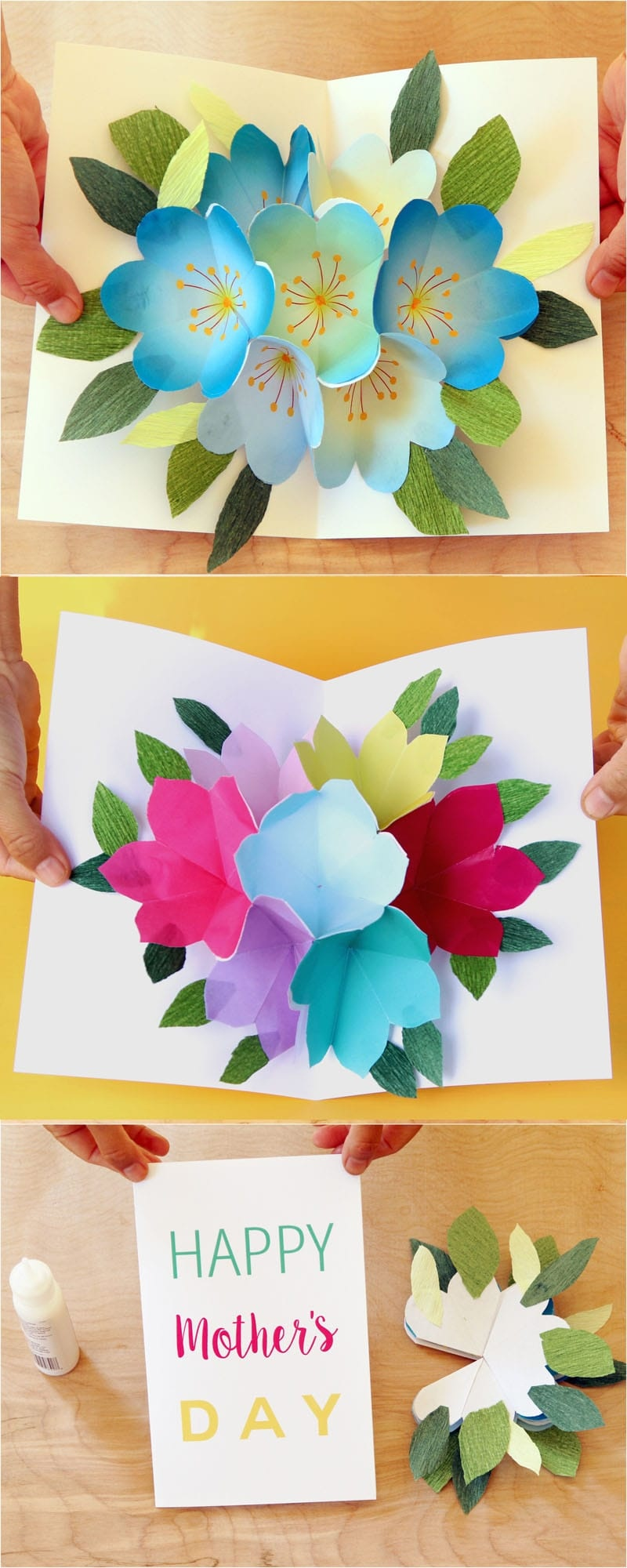 Pop Up Flowers Diy Printable Mother's Day Card - A Piece Of Rainbow - Free Printable Cards No Download Required