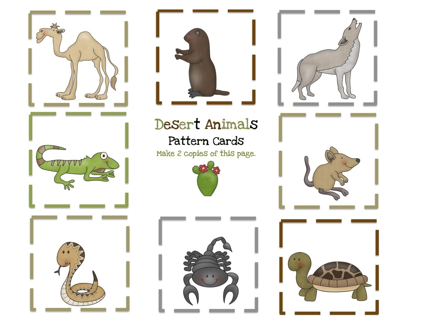 Preschool Printables: Desert Animals Printable | Preschool - Free Printable Desert Animals