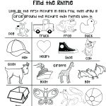 Preschool Rhyming Worksheets – Karyaqq.club – Free Printable Rhyming Activities For Kindergarten