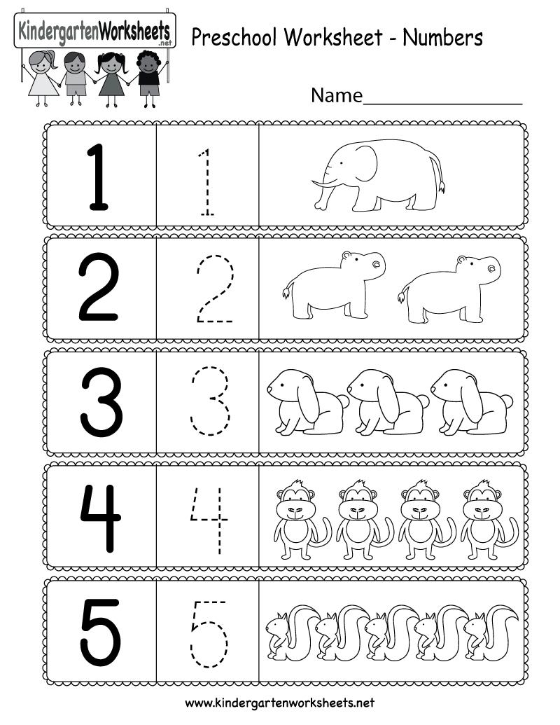 Preschool Worksheet Using Numbers - Free Kindergarten Math Worksheet - Free Printable Preschool Math Worksheets
