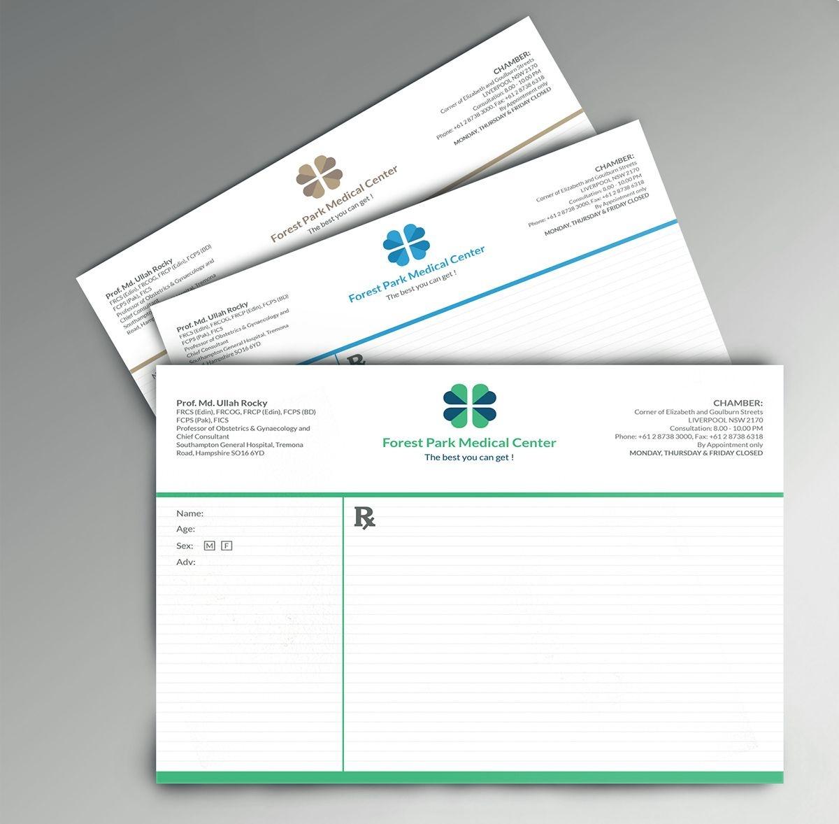 Prescription Pad On Behance   Stationery Items   Pad Design - Free Printable Prescription Pad