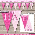 Princess Party Banner Template | Birthday Banner | Editable Bunting   Free Printable Princess Birthday Banner