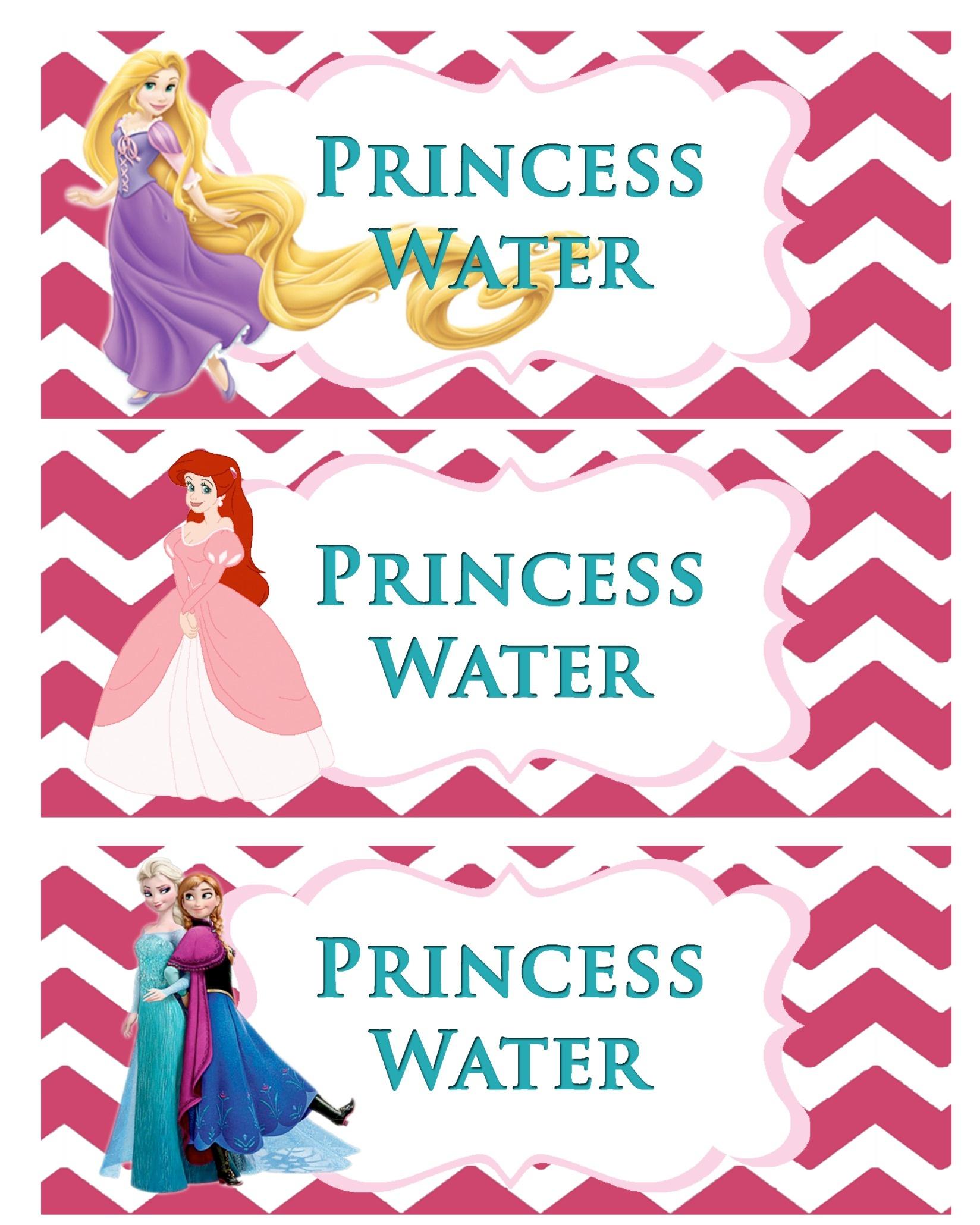 Princess Party-Free Printable - Free Printable Princess Birthday Banner