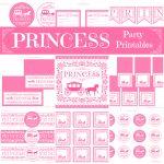 Princess Party Printables Free   Kaza.psstech.co   Free Printable Princess Birthday Banner