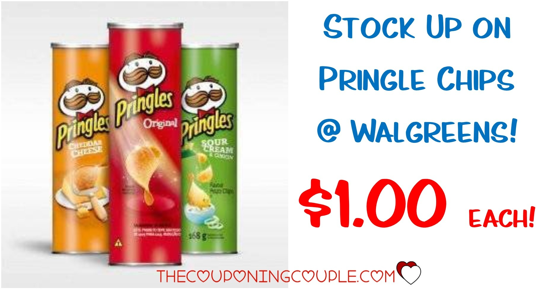 Pringles Canisters - Only $1 Each With Walgreens Deal! - Free Printable Pringles Coupons