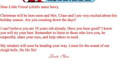 Print At Home Letters From Santa | Santa Claus Museum – Free Personalized Printable Letters From Santa Claus