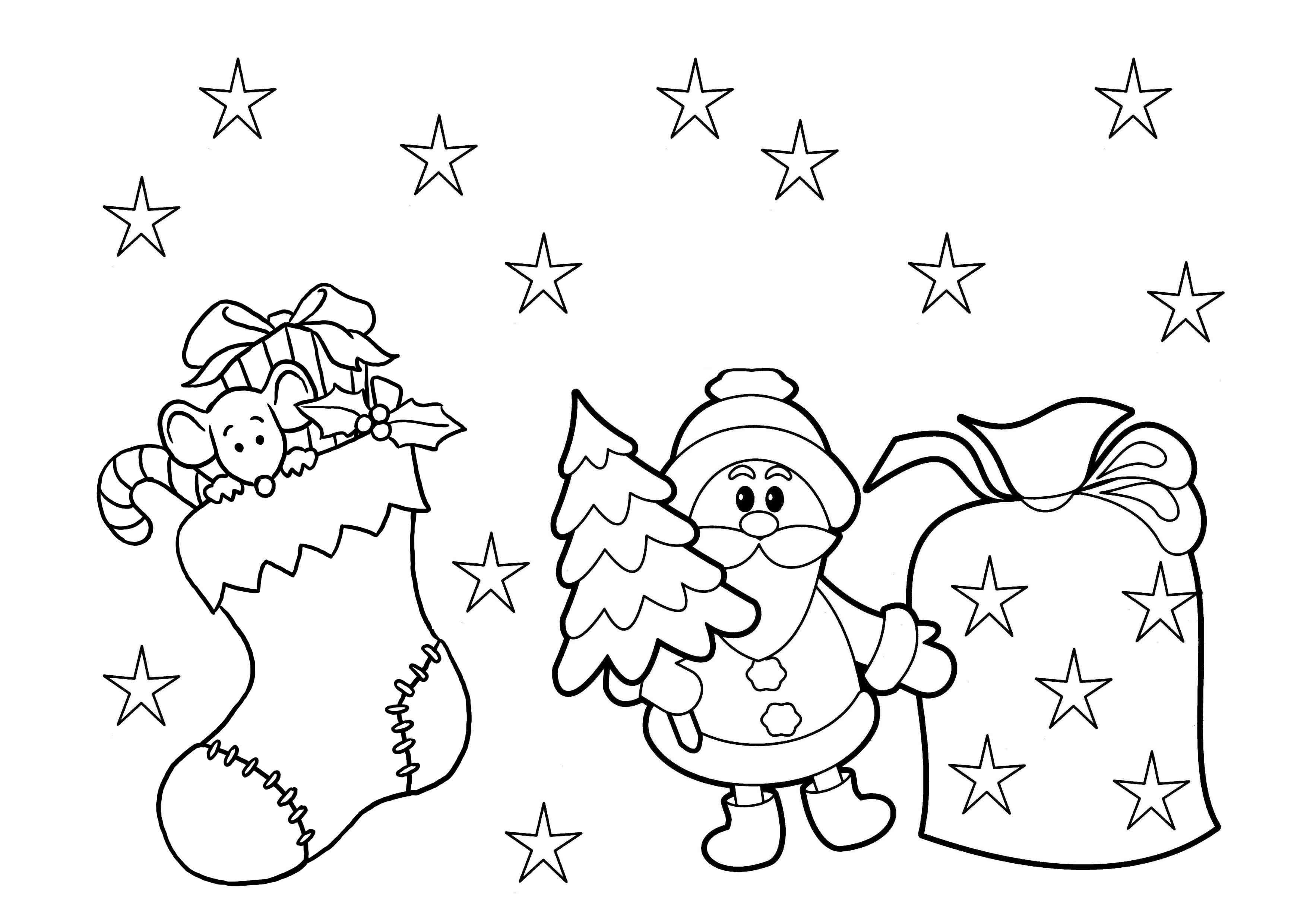 Print & Download - Printable Christmas Coloring Pages For Kids - Free Printable Christmas Coloring Pages For Kids