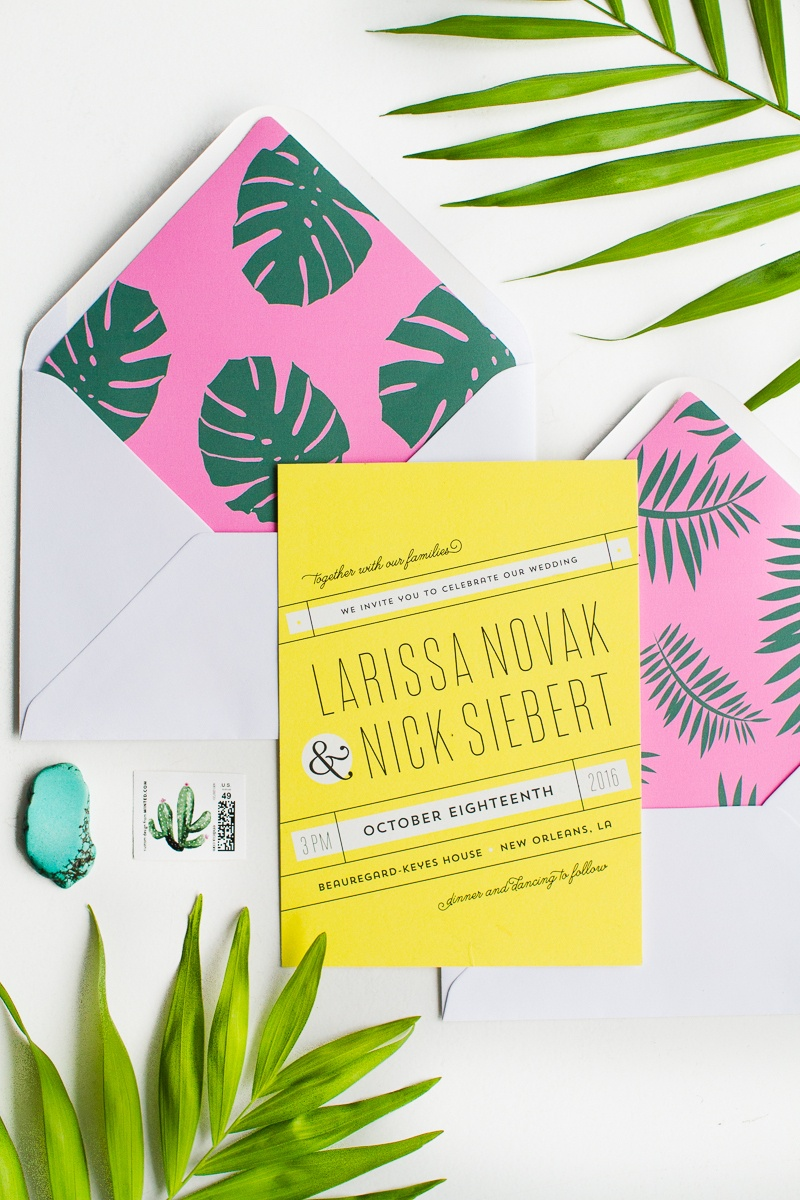 Print These Tropical Palm Envelope Liners For Your Stationery - Free Printable Palm Tree Template