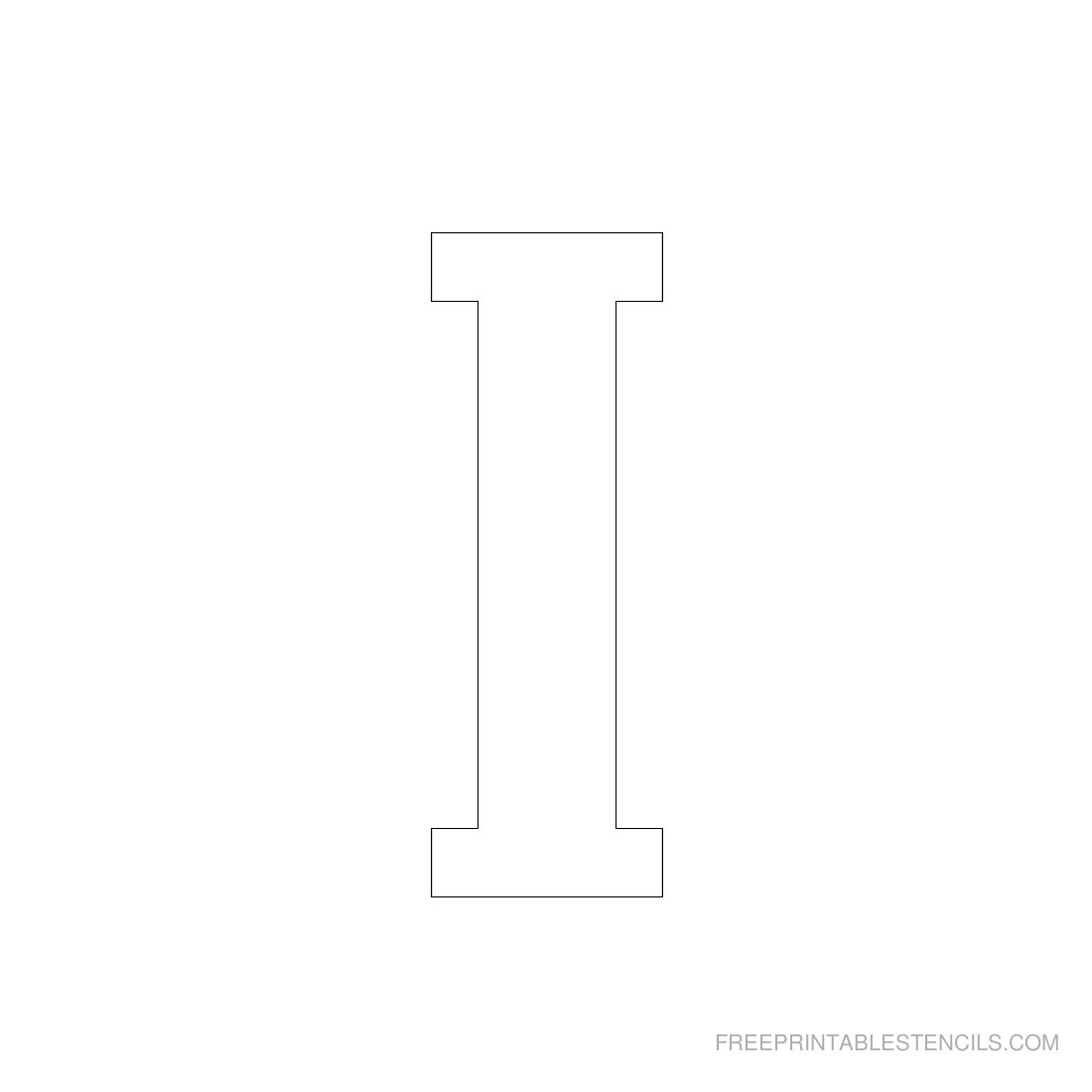 Printable 3 Inch Letter Stencils A-Z | Free Printable Stencils - Free Printable 4 Inch Block Letters