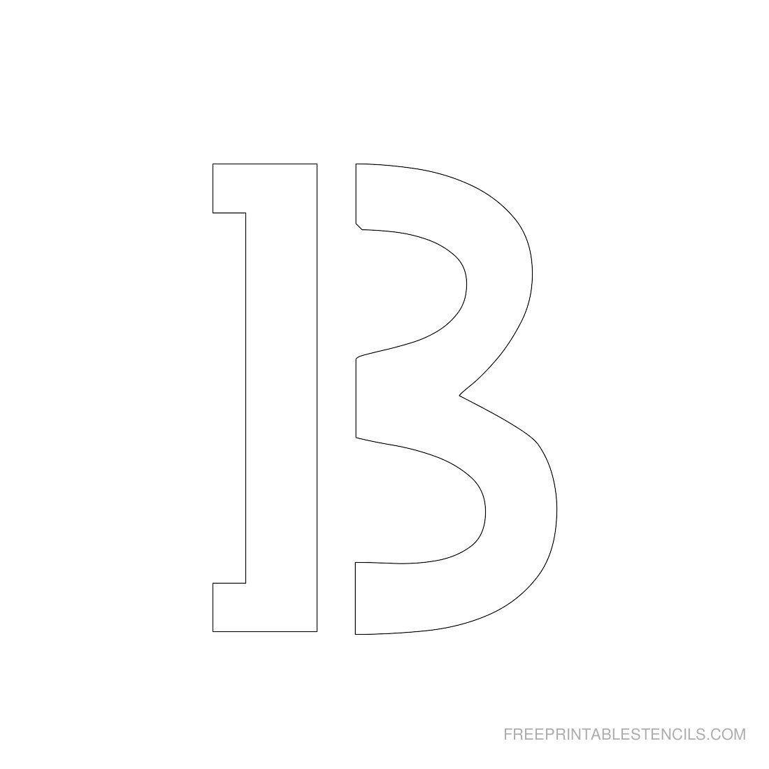 Printable 3 Inch Letter Stencils | Scrapbooking | Letter Stencils To - Free Printable 3 Inch Number Stencils