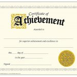 Printable Achievement Certificates | Certificate Templates   Free Printable Certificates Of Accomplishment