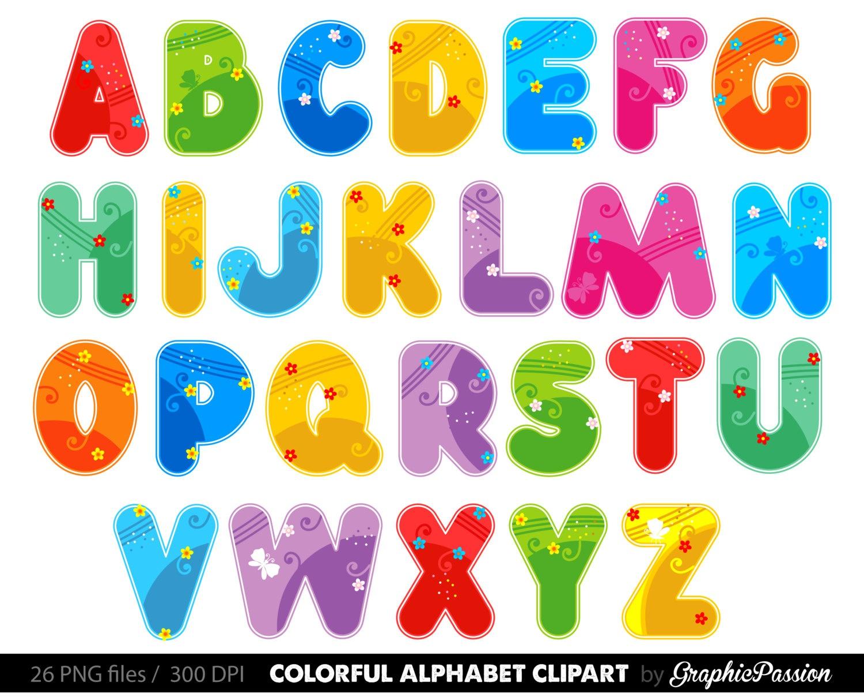 Printable Alphabet Letters Clipart - Free Clipart - Free Printable Clip Art Letters