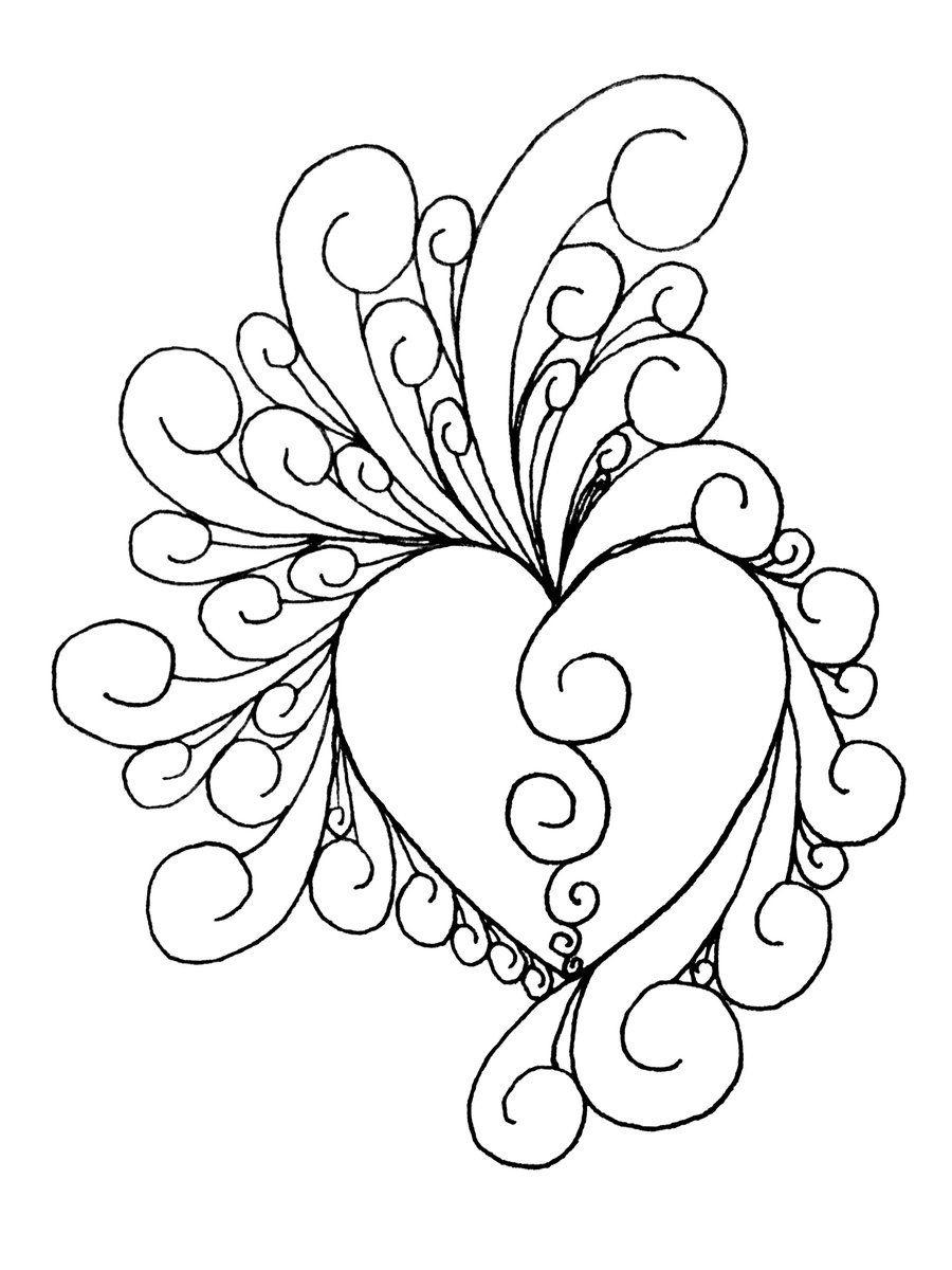 Printable Art Work   Heart Of Intricate~Shinobitokobot On - Free Printable Quilling Patterns Designs
