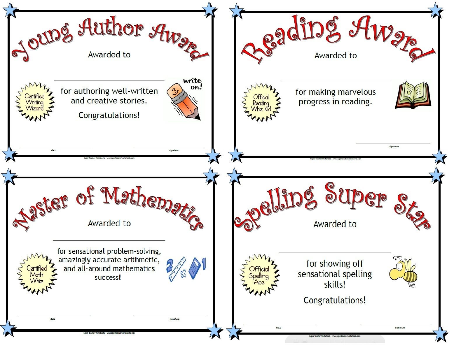 Printable Awards - Free Printable Honor Roll Certificates Kids