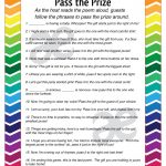 Printable Baby Shower Activity: Pass The Prize – Instant Download – Pass The Prize Baby Shower Game Free Printable
