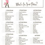 Printable Baby Shower Game What S In Your Pursephotogreetings   Free Printable What's In Your Purse Game