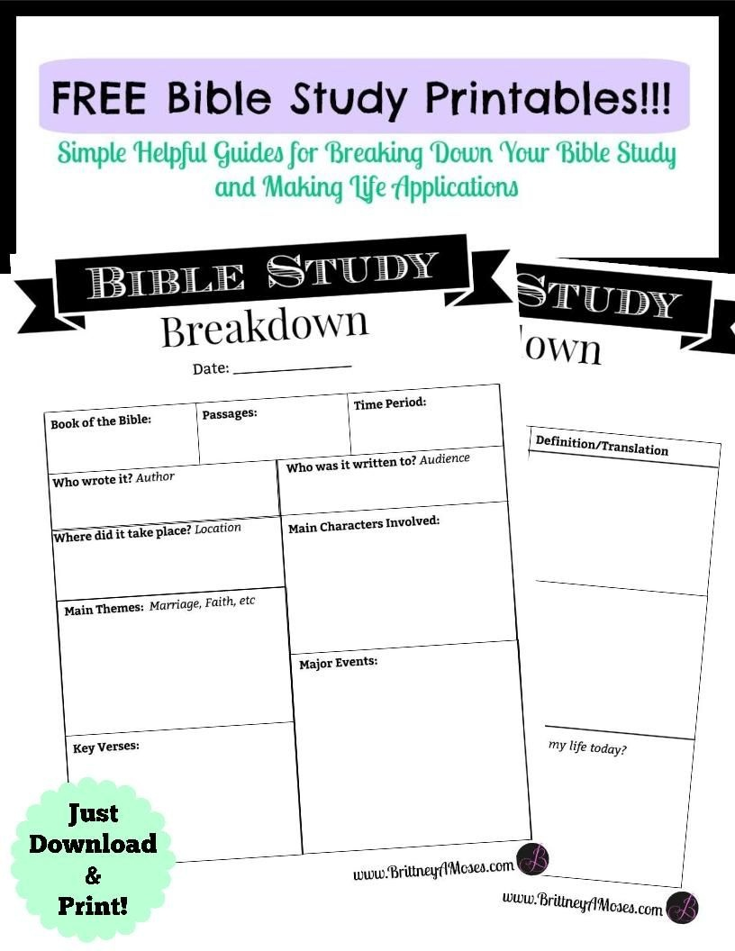 Printable Bible Study Guide | Jeff's | Bible Study Guide, Inductive - Free Printable Bible Study Guides