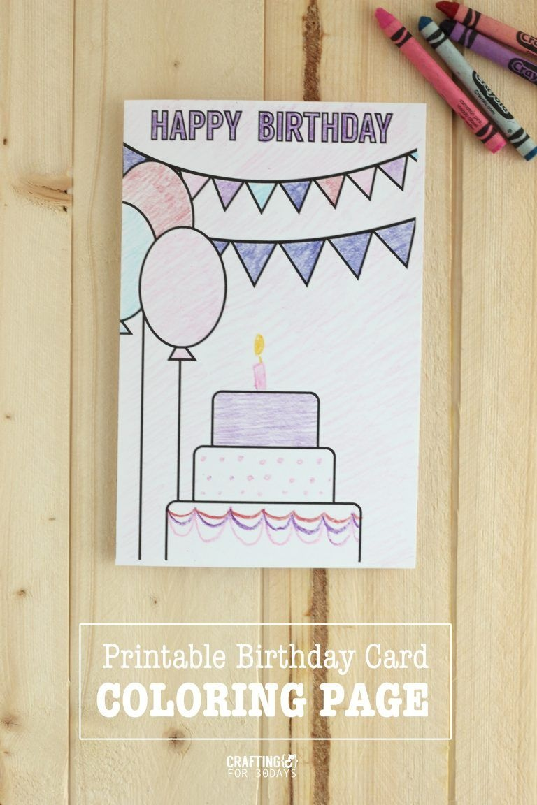 Printable Birthday Coloring Pages | Printables | Birthday Coloring - Free Printable Funny Birthday Cards For Dad