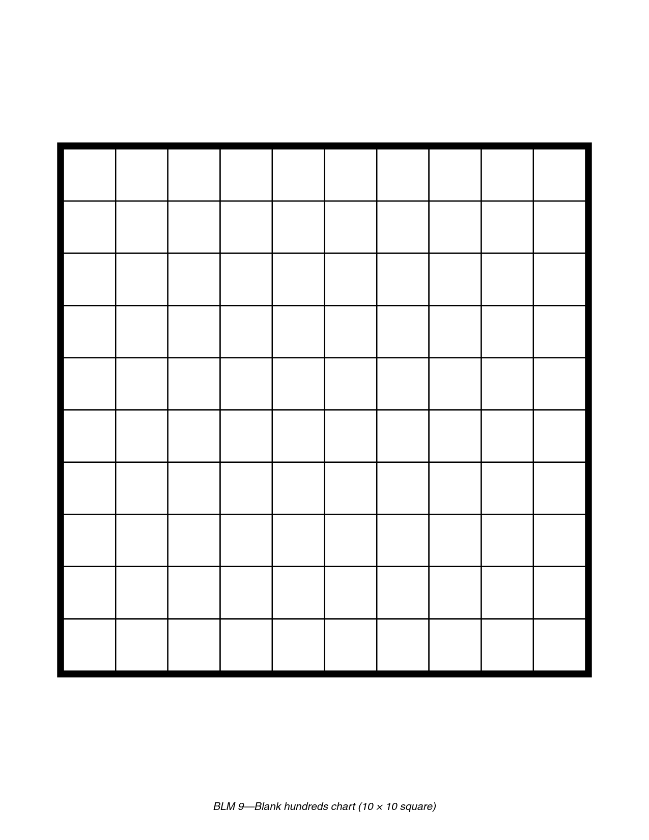 Printable Blank 100 Square Grid | Math | 100 Grid, Grid, The 100 - Free Printable Hundreds Grid