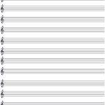 Printable Blank Music Staff Paper | Good Things To Know | Music   Free Printable Staff Paper
