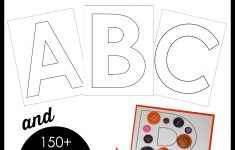 Printable Block Letters And Over 150 Ways To Fill Them! – The – Free Printable Large Uppercase Alphabet Letters