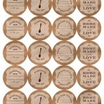 Printable Canning Jar Labels   Free Printable Mason Jar Labels Template