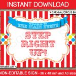 Printable Carnival Backdrop | Circus Party | Decorations   Free Printable Carnival Decorations