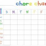 Printable Chore Charts Free | Acme Of Skill – Free Editable Printable Chore Charts